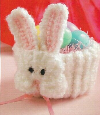 On The Double Bunny Basket Easter Crochet Pattern Instructions