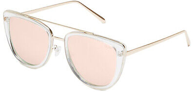 Quay Australia French Kiss Oversize Square w/ Rose Gold Mirror Lens QW 000172