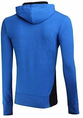 BOXEUR DES RUES Mens BXT-4926 Full Zip Hooded Sweatshirt, Royal, Large