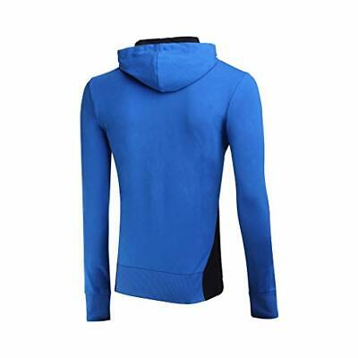 BOXEUR DES RUES Mens BXT-4926 Full Zip Hooded Sweatshirt, Royal, 2X-Large