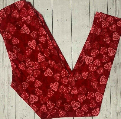 Lularoe Valentine's Day Heart leggings Tween Kids Pink, Red, White NEW NWT