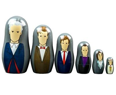 Doctor Who 7th-12th Doctor Nesting Doll Set