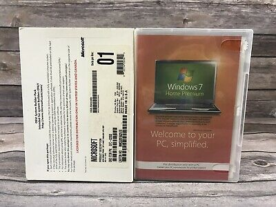 Microsoft Windows 7 Home Premium 64 Bit SP1 System Builder OEM DVD