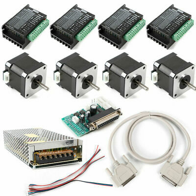 4 Axis CNC Controller Kit Nema17 Stepper Motor 48 Oz-in DM432 Motor Driver 3.5A