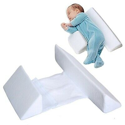 Newborn Baby Side Sleeping Pillow Soft Velvet Velvet Infant Anti Roll Pillow
