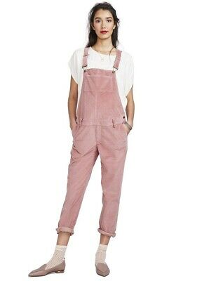 Hatch Maternity Women's THE CORD OVERALL Rose Size 1 (S/4-6) NEW