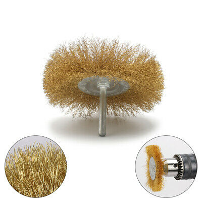 2Pcs Brass Wire Wheel Brushes for Metal Rust Removal Polishing Brush Rotary Tool