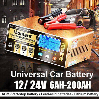 Car Battery Charger Automatic Intelligent Repair 12/24V Pulse Motorcycle
