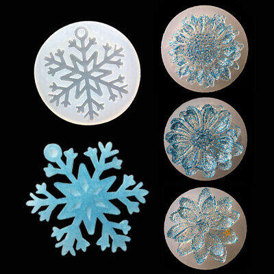 DIY Mold Silicone Making Mold Pendant Handicrafts Flower Daisy 3D Resin Jewelry