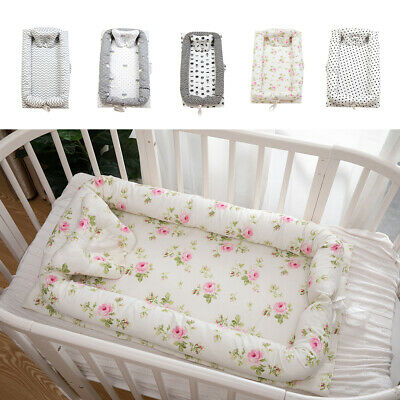 Cotton Baby Bassinet Crib Nest Cocoon Infant Baby Cot Co-Sleeping Bed Soft