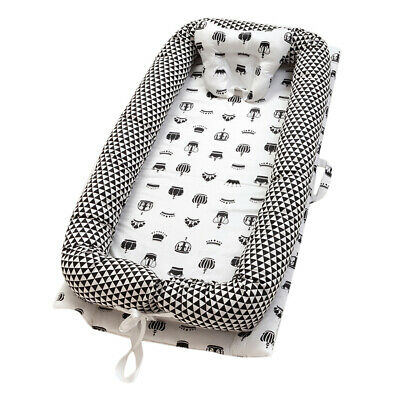Cotton Baby Bassinet Crib Infant Baby Cot Snuggle Bed Lounger Breathable C