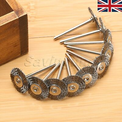 50Pcs 22mm Stainless Steel Wire Brushes Wheels Grinder Rust Polisher Rotary Tool