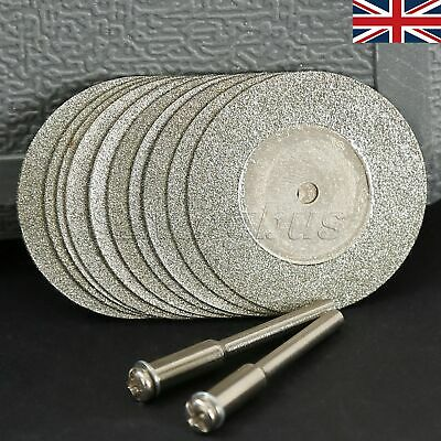 10x 35mm Diamond Coated Cutting Off Discs Wheel Blades Grinder Drill Rotary Tool
