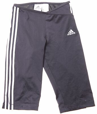 ADIDAS Girls Sport Shorts 5-6 Years Black Polyester  EE07