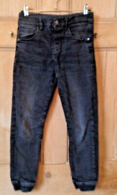 M & S Cotton LINED Warm ELASTICATED COMFY Boy's BLACK Jeans 8 - 9 Years EUR 134