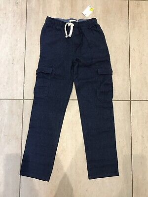 Mini Boden boys blue trousers age 12 years navy soft NEW Cotton