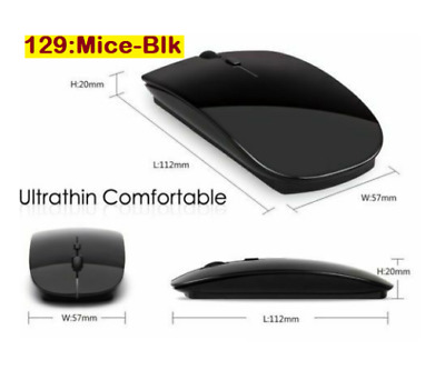 Black Wireless Cordless Mouse Optical Scroll 2.4GHz For PC Laptop Computer + USB