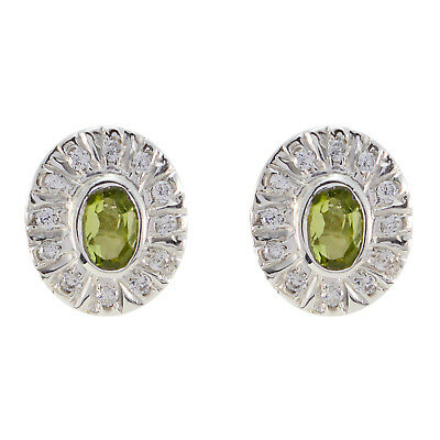 enticing Peridot 925 Sterling Silver Green genuine india US gift