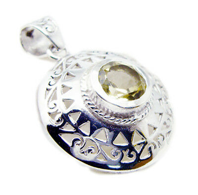 appealing Lemon Quartz 925 Sterling Silver Yellow Pendant Natural exporter US