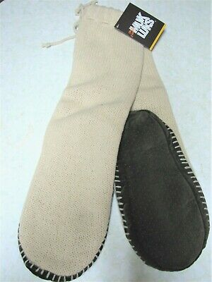 Muk Luks Women's Knitted Slippers/Long Socks with Non-Skid Sole - NWT- Large