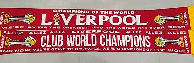 Liverpool Woollen Scarf - Club World Champions 2019 - Red