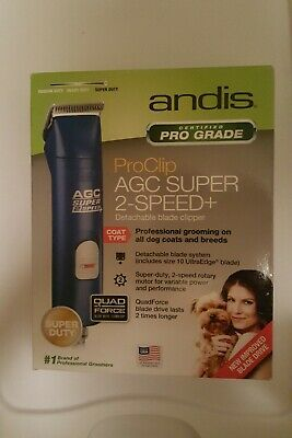 Andis AGC2 Super 2-Speed Pro Clip Ultra Edge Clipper Blue NEW