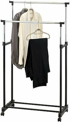 Garment Rack Double Single Silver Black Adjustable Portable Clothes Rail Stand