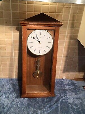 Beautiful Oak Westminster Chimes Wall Clock Solid Wood
