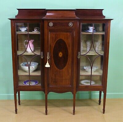 Antique Inlaid Mahogany Side Cabinet by Shapland and Petter c.1900
