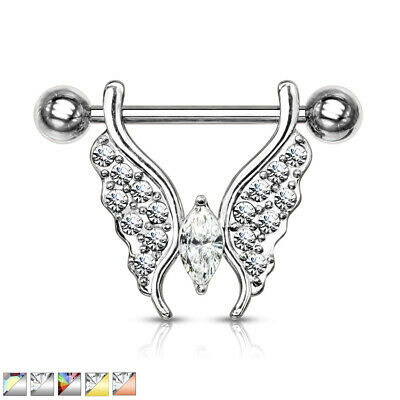RAINBOW COLORED PRINT STAR NAVEL BELLY RING BUTTON PIERCING JEWELRY B667