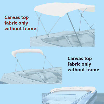 """BIMINI TOP BOAT COVER CANVAS FABRIC TEAL W//BOOT FITS 3 BOW 72/""""L 46/""""H 67/""""-72/""""W"""