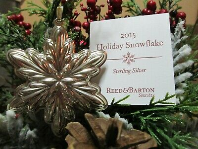 Reed & Barton Annual Sterling Holiday Snowflake Ornament 2015