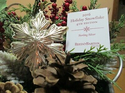 Reed & Barton Annual Sterling Holiday Snowflake Ornament 2016