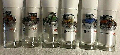 Set of 6 PURE OIL COMPANY 50th Anniversary Vintage 12 oz. Drinking Glasses