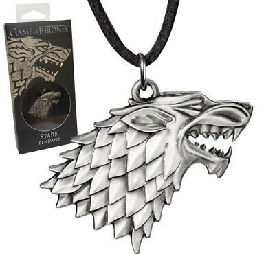 Noble Collection Game of Thrones House of Stark Silver Sigil Necklace-New