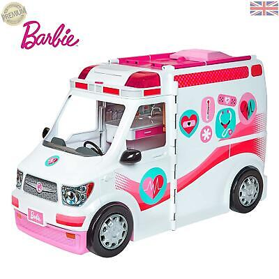 Barbie FRM19 Careers Care Clinic Ambulance Play Role Model Lights c18b22