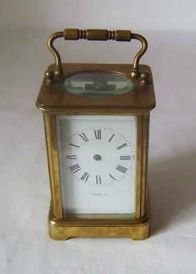 French Brass Carriage Clock For Restoration: Edmonds & Co. C.1900