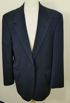 TOM JAMES Mens Blazer Sportscoat Jacket Navy Blue Pinstripe 44L