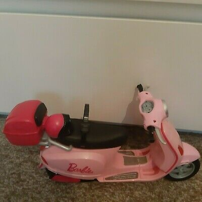 Vintage Mattel Barbie Pink Vespa Moped Scooter 2008