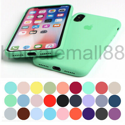 Original Funda Para Iphone 7 8 6 Plus Xs Max Xr Oem Genuina Carcasas De Silicona