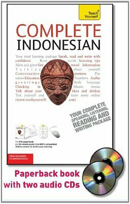 COMPLETE INDONESIAN WITH TWO AUDIO CDS: A TEACH YOURSELF By Eva Nyimas BRAND NEW