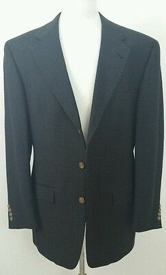 Austin Reed Mens SportCoat Jacket Mens 42L Houndstooth Wool Dark Gray Blazer