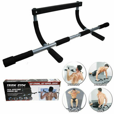 Workout Bar Lite Chin-Up Pull-Up Horizontal Bar Heavy Duty Trainer for Home Gym