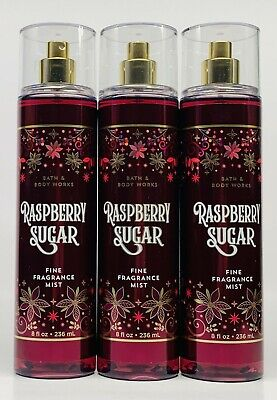 3 Bath & Body Works RASPBERRY SUGAR Fine Fragrance Mist