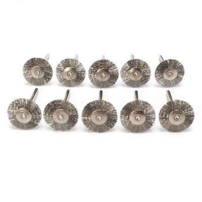 10Pc Steel Wire Wheel Brushes Brush Rotary Tool for Metal Rust Removal Polishing