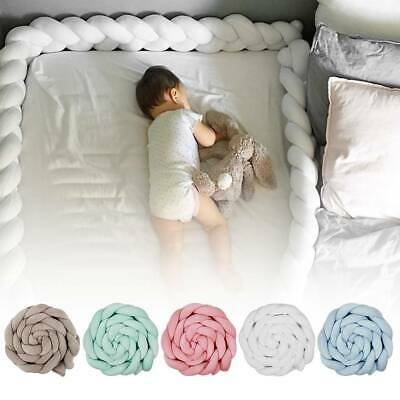 2M Newborn Infant Baby Bed Bumper Crib Around Cushion Cot Protector Pillows Bed