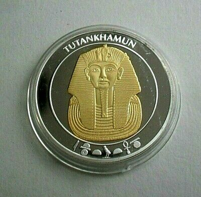 Free P&P Ancient Egypt Tutankhamun With Silver Plated With Gold Spot