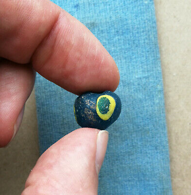 An ancient large glass bead jewelry Kievan Rus Vikings 10 AD Very Rare color