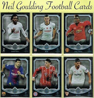 Champions League MUSEUM 2017-2018 ☆ Football Cards ☆ #1 to #75