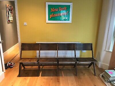 Victorian Vintage Oak Church Pew's/Bench with fold seats beautiful condition